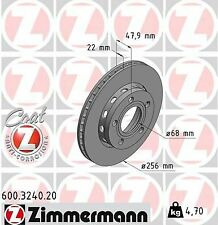 8D0 615 601D 8D0615601 600.3240.20 Zimmermann Brake Disc Rotor AUDI S4 B5 PAIR