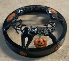 Black Cats & Pumpkins Halloween Yankee Candle Illuma-Lid