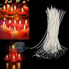 100X 20cm Candle Wicks Candle Making Cotton Core Wick Pre Waxed With Sustainers