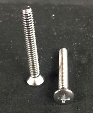 """25 Phillips Stainless Oval Machine Screw 1/4-20 x 2"""" AlloChrome 18-8 Qty 25 Each"""