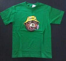 Marc Ecko Unltd Smokey Tokey The High Bear Weed Pot Joint GRN T-Shirt Small NEW!