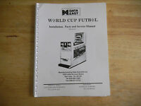 WORLD CUP FUTBOL  DATA EAST    ARCADE GAME ORIGINAL owners   manual