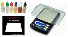 Electronic Jewelry Gram Scale + 6 PCS Gold/Silver/Platinum Acid Tester Test Kit