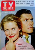 TV Guide 1965 Bewitched Elizabeth Montgomery Dick York Hitchcock EX/NM COA Rare