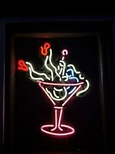 New Martini Glass Girl Neon Bar Sign Light Beer Pub Glass Free Shipping