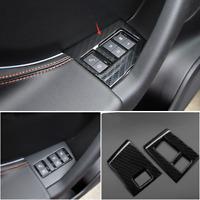 Carbon Fiber Seat Memory Buttons Contorl Cover For Jaguar F-Pace X761 2016 17 18