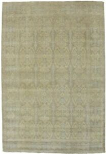 Muted Chobi Peshawar 6X9 Washed-Out Color Hand Knotted Wool Oriental Rug Carpet