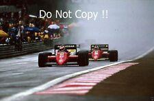 Michele Alboreto & Stefan Johansson FERRARI 156/85 GP BELGA fotografia 1985