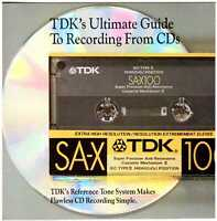 TDK's Ultimate Guide to Recording from CDs—CD w/57-track Reference Tone Library