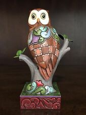 """Jim Shore """"Wide Eyed And Wise"""" Perched Owl Figurine - 4016891"""