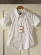 Helly Hanson Woman Short Sleeves Shirt - Color 001 White, Size S/P