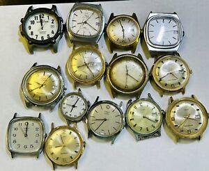 Lot Of Vintage Timex Wristwatches, Quartz And Automatic