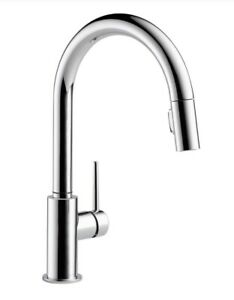 Delta 9159-DST Trinsic 1-Handle Pull Down Sprayer Kitchen Faucet in Chrome
