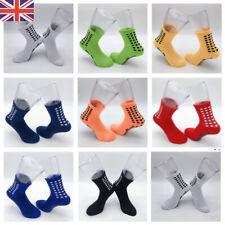 Men's Anti Slip Football Socks Boys Athletic Long Socks Absorbent Sports Grip UK
