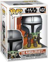 Funko Pop! Star Wars: The Mandalorian - Mandalorian Flying with The Child Vinyl