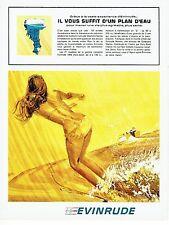 Publicité Advertising 037  1966   moteur hors-bord  bateau Evinrude Ski nautique