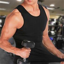 Men's Slim Body Shaper Waist Trainer Vest Gym Belly Compression Muscle T-Shirt