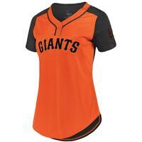 New MLB San Francisco Giants Majestic Women's Cool Base T-Shirt –Orange NWT
