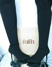 FAITH Black over the knee textile upper boots NWT UK 3 / EU 36 RRP £65