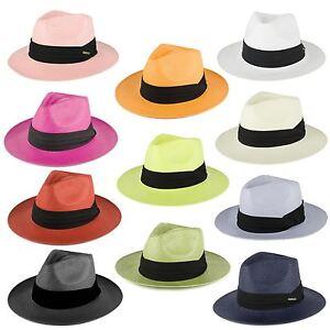 Straw Style Summer Fedora Hat