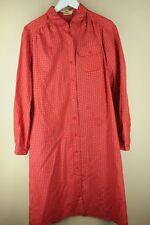 Vintage Parade Femmes Rouge & Bleu Géométrique 18.3ms Robe Taille 12