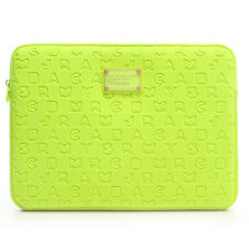 "Marc by Marc Jacobs Laptop Sleeve Case 11"" Flouro Lime Dreamy Logo NEW"