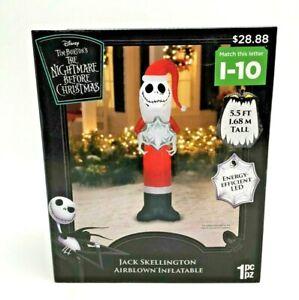 DISNEY Santa JACK SKELLINGTON Nightmare Before Christmas AIRBLOWN INFLATABLE NEW