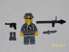 Lego Custom Minifig WW2 Modern Warfare German Commando with weapons