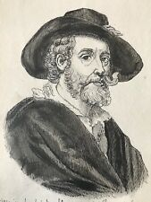 Pierre Paul Rubens dessin plume XIXe anonyme peintre baroque flamand