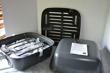 Pampered Chef INDOOR OUTDOOR Portable GRILL - Electric or Charcoal - Tailgating!