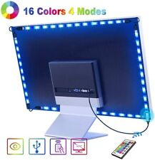 USB TV Backlight 2.2m LED Strip Light IP67 Waterproof 16 Colour + Remote Control