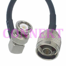 N male to BNC male right angle KSR195 cable jumper pigtail 30cm