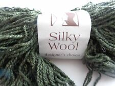 Silky wool by Elsebeth Lovold  Knitting Fever #6 ivory 190 yards US #6