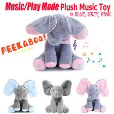 Soft Singing Stuffed animals Plush Elephant Baby Peekaboo Talking PP cotton Doll