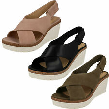 CLARKS LADIES WEDGE SANDAL 'PALM CANDID'