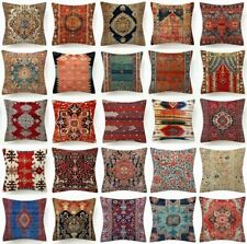 """Pillow Cover Tapestry Kilim Rug Digital Print Decorative Bed Cushion Case 18x18"""""""