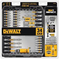 DeWALT Max Impact 34 PC SCREWDRIVER BIT SET Magnetic Screw Holder Driver Nut