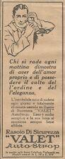 W1383 Rasoio di sicurezza VALET Autostrop - Pubblicità 1926 - Vintage Advert