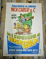 """NICK CARTER & C. SUPERGULP MANIFESTO DI GRANDI DIMENSIONI 140X100   """"NUOVO"""""""