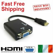 HDMI to VGA + 3.5mm Jack Cable Adapter Signal Converter Digital to Analogue