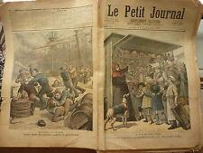 PETIT JOURNAL- 1892 N° 58 marchands boulevards PARIS / rixe marins anglais