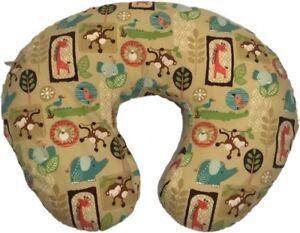 Boppy Slipcovered Feeding Infant Support Pillow Colorful Animals Monkeys Yellow