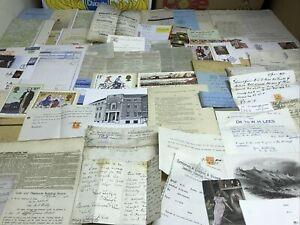 D ,Old Bottom Of Box Mix  100 Items Documents Ephemera Etc Junk Journal,research