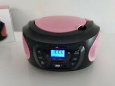 Tragbarer CD-Player Stereoanlage Kompaktanlage Boombox Kinder Radio Radio rosa