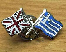 UK & GREECE FRIENDSHIP Flag Metal Lapel Pin Badge FREE POSTAGE