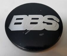BBS RZ RS RM LM 70.6mm Silver +Black 3-tab Wheel Center Hub Cap Emblem AUTHENTIC