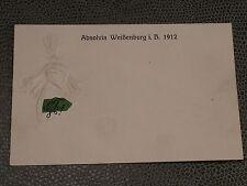 ANSICHTSKARTE WEIßENBURG ABSOLVIA 1912