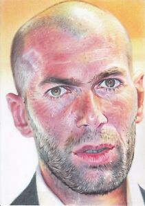 Zinedine Zidane ART PENCIL DRAWING A4