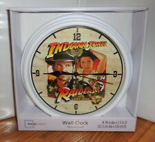 """RAIDERS OF THE LOST ARK WALL CLOCK # 1. 9"""" DIA. HARRISON FORD.....FREE SHIPPING"""