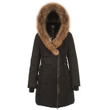 Mackage Women's Mid Length Winter Down Coat with Fur Collar Black KAY X-Small